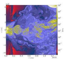 yt: Magnetized White Dwarf Binary Merger